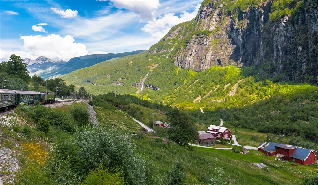 Beautiful scenery on the Flåm Railway