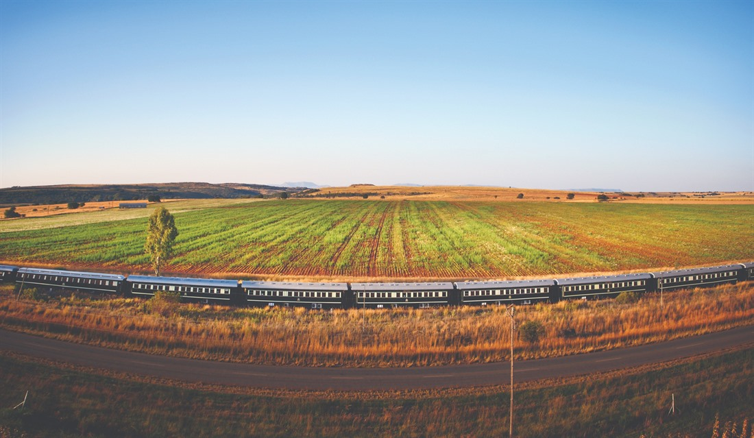 A stretch of the Rovos Rail in South Africa's North West Province