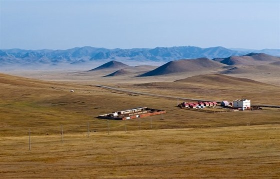 The vast expanse of the Mongolian steppe
