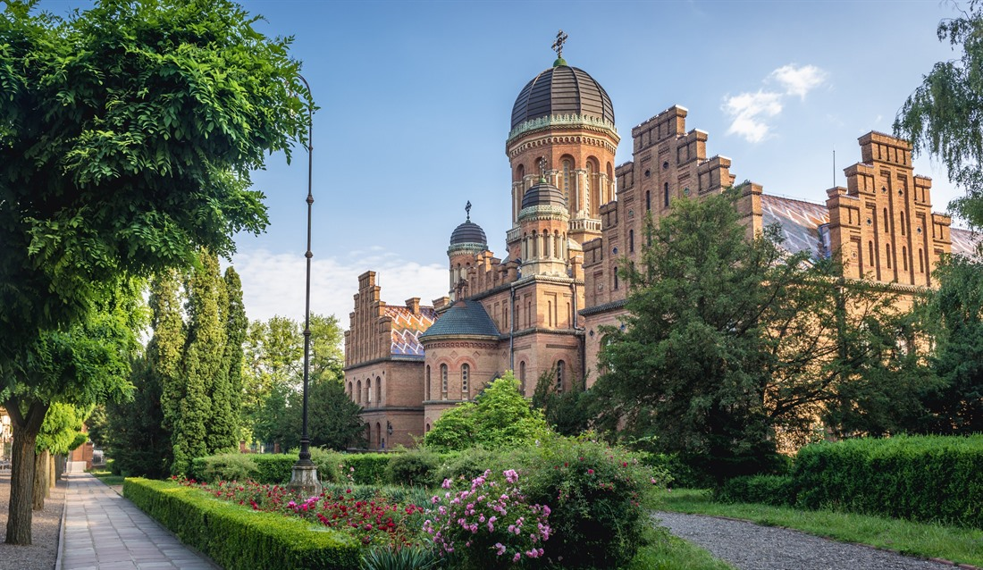 National University Three Saints Orthodox church in Chernivtsi, Western Ukraine