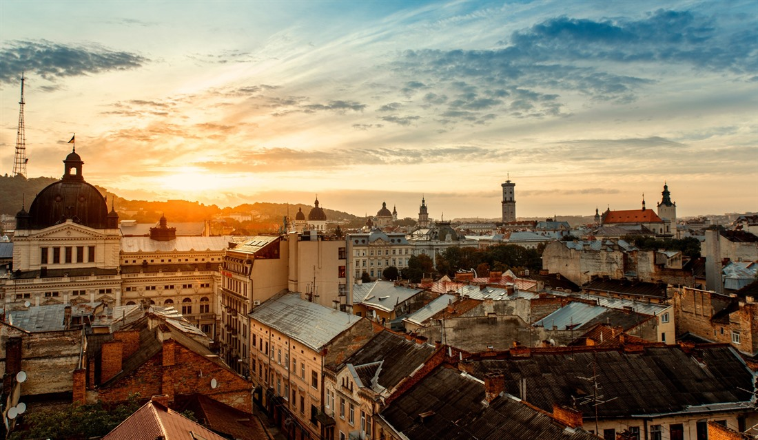 Sunrise over Lviv