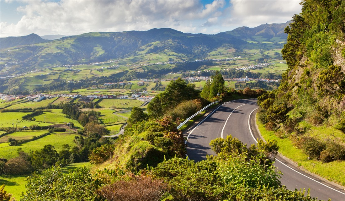 Country roads in the Azores
