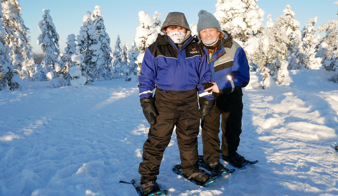 Jack and Andrea in Finnish Lapland