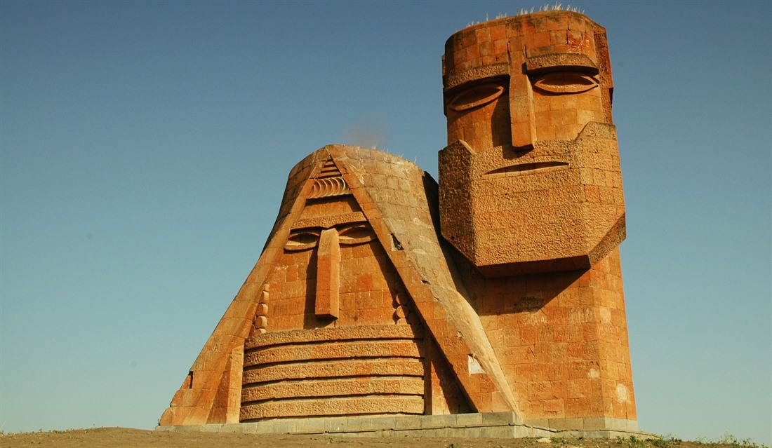 We Are Our Mountains monument in Nagorno-Karabakh
