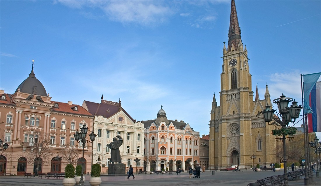 City square in Vojvodina