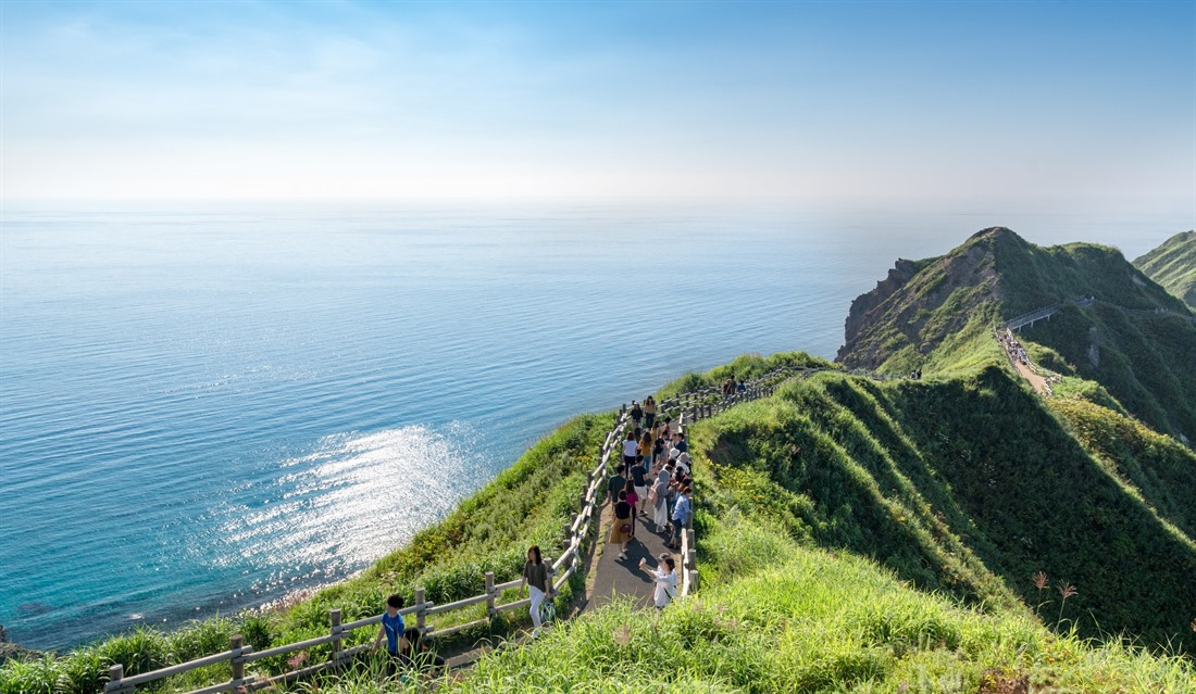 This could be Cornwall, but it's actually the Cape of Kamui in Hokkaido