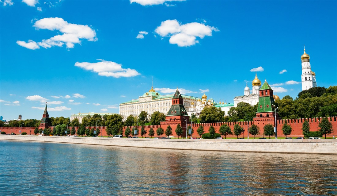 The Moscow Kremlin viewed from the river