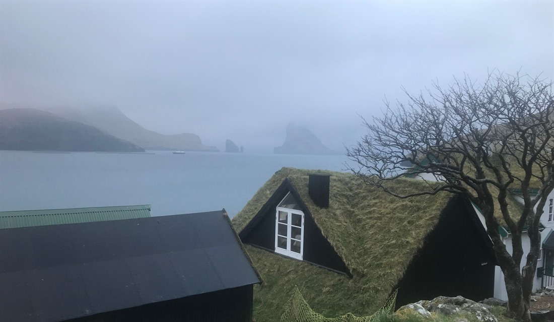 The village of Bøur, where we were welcomed and fed on our first night in the Faroes