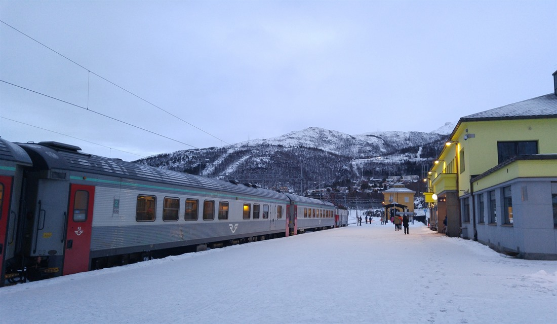 Narvik Station - the start of the Arctic Circle Train