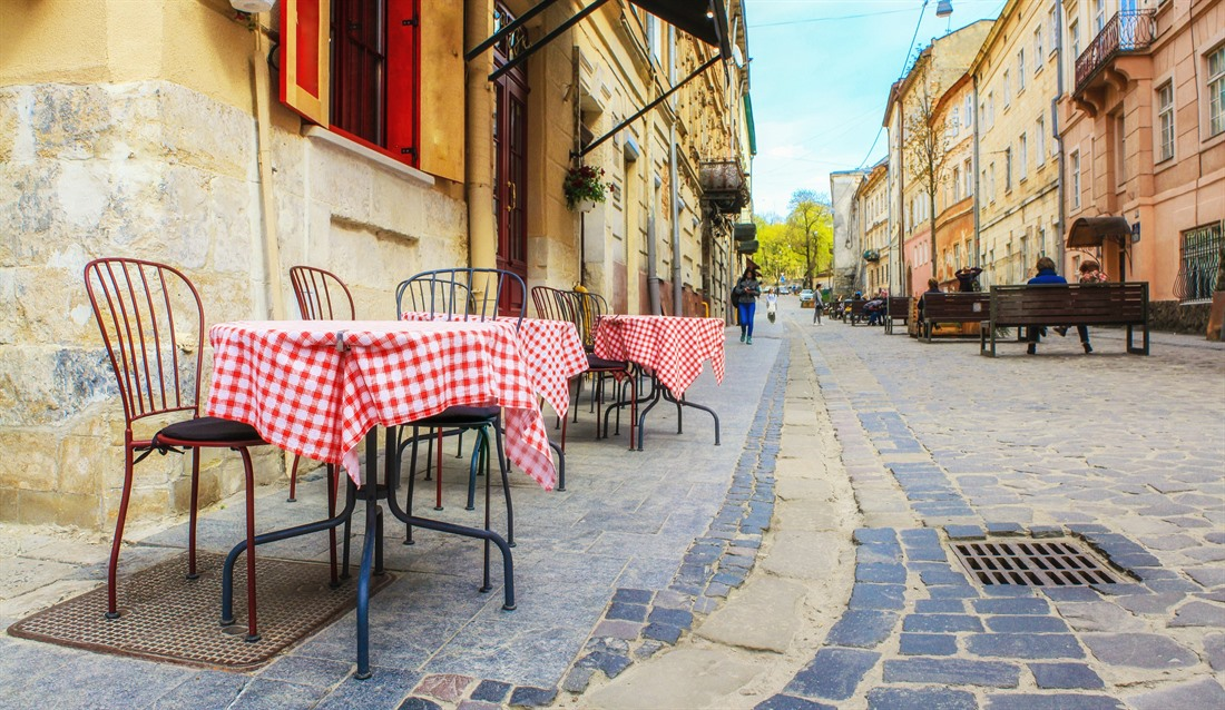 Cafe culture in Lviv