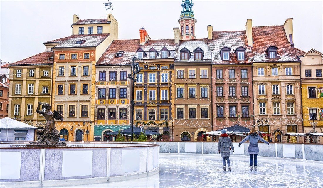 Ice-skating rink in Warsaw