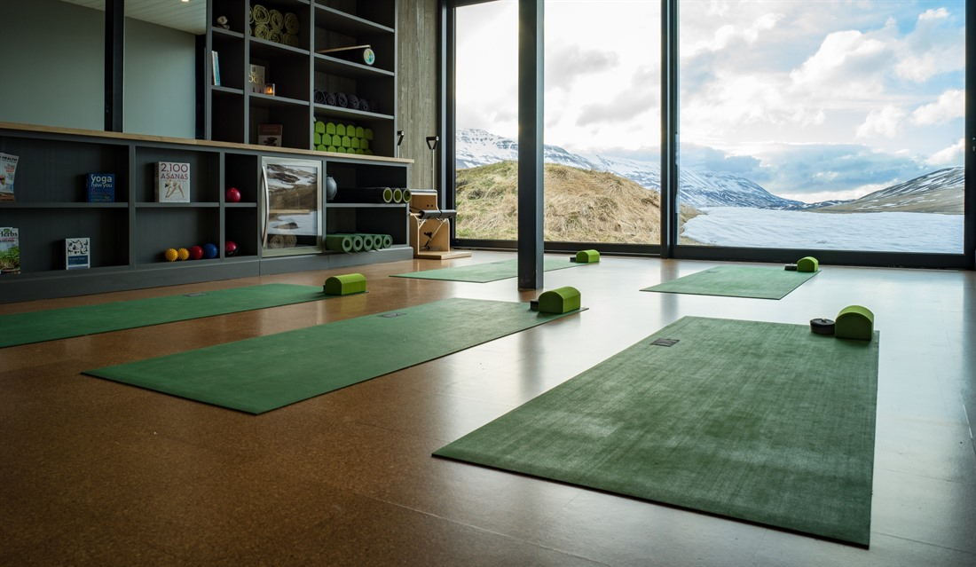 Yoga studio at Deplar Farm