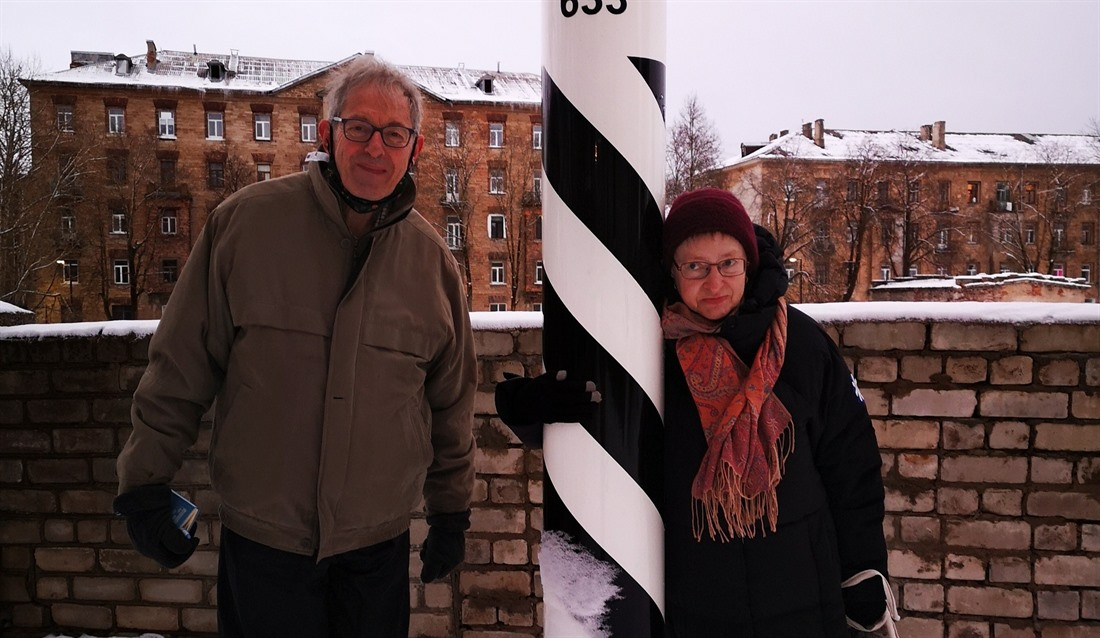 Neil and his wife, Tina, in Estonia researching his 8th Bradt Guide
