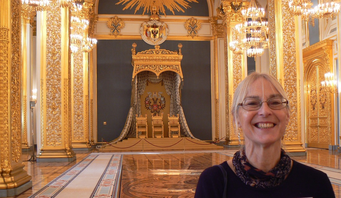 Christina inside the palace