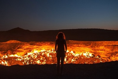 A night at the Darvaza gas crater
