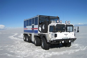 Truck to Ice Cave in Iceland