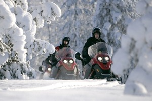 Snowmobile Safari to a Reindeer Farm and Santa Claus Village 1