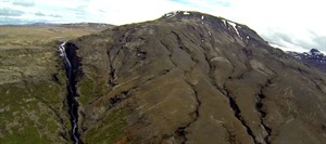 Glymur Waterfall by Helicopter