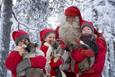 Visit to Santa's Village and snowmobiling to reindeer farm