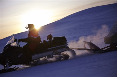 Full day snowmobile safari to the Ice Hotel