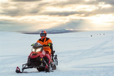 Glacier Snowmobile from Gullfoss