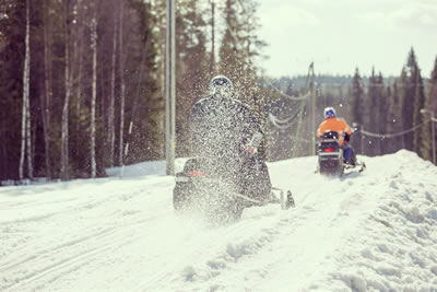 Snowmobile safari to Amethyst mine