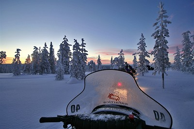 Snowmobile safari & reindeer sleigh ride