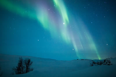Snowmobile safari to search for the Northern Lights