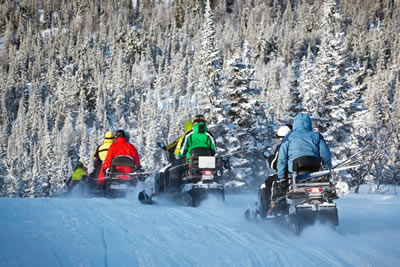 Snowmobile Safari to  Wilderness