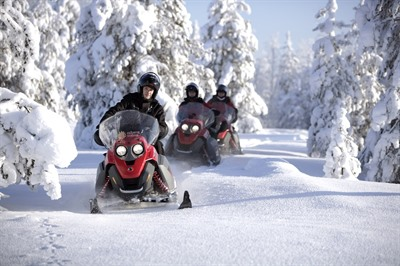 Snowmobiling experience