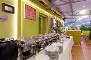 Buffet at 3 MostA Hotel