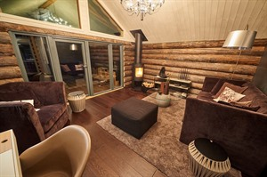 Interior of Log Cabin 3