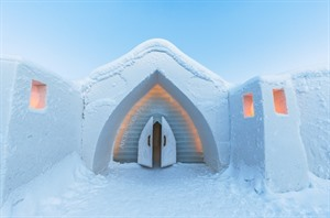Entrance at Arctic Snow Hotel