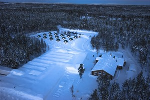 Aerial view of Arctic Snow Hotel