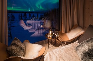 Northern lights viewing from your cosy suite
