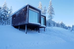 Exterior of suite at Arctic Treehouse Hotel