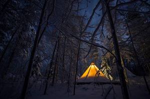 Heated Tent at Aurora Safari Camp