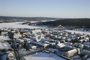 Aerial view City Hotel Lapland