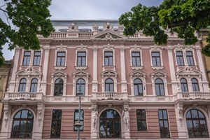 Exterior of Hotel Grand in Lviv