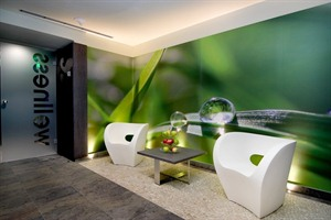 Hotel Palazzo Zichy- entrance of wellness area