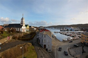 The View of Torshavn Cathedral from Hotel Torshavn