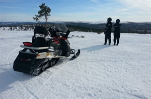Snowmobiling at Wilderness Hotel Muotka, Lapland