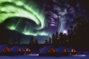 Northern Lights above the Northern Lights Village