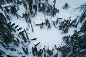 Aerial of Panorama Design Huts
