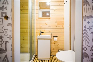 Bathroom at Panorama Design Huts