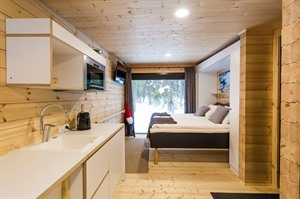 Kitchenette in room at Panorama Design Huts