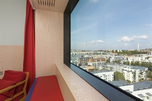 View from one of the bedrooms at Park Inn Stockholm Hammarby Sjostad