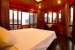 Prince Junk Cruise, Halong Bay - double cabin interior