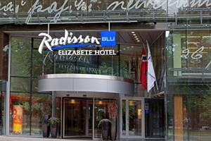 Entrance to Radisson Blu Elizabete