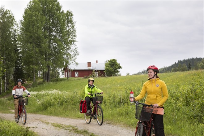 Cycling though Finland